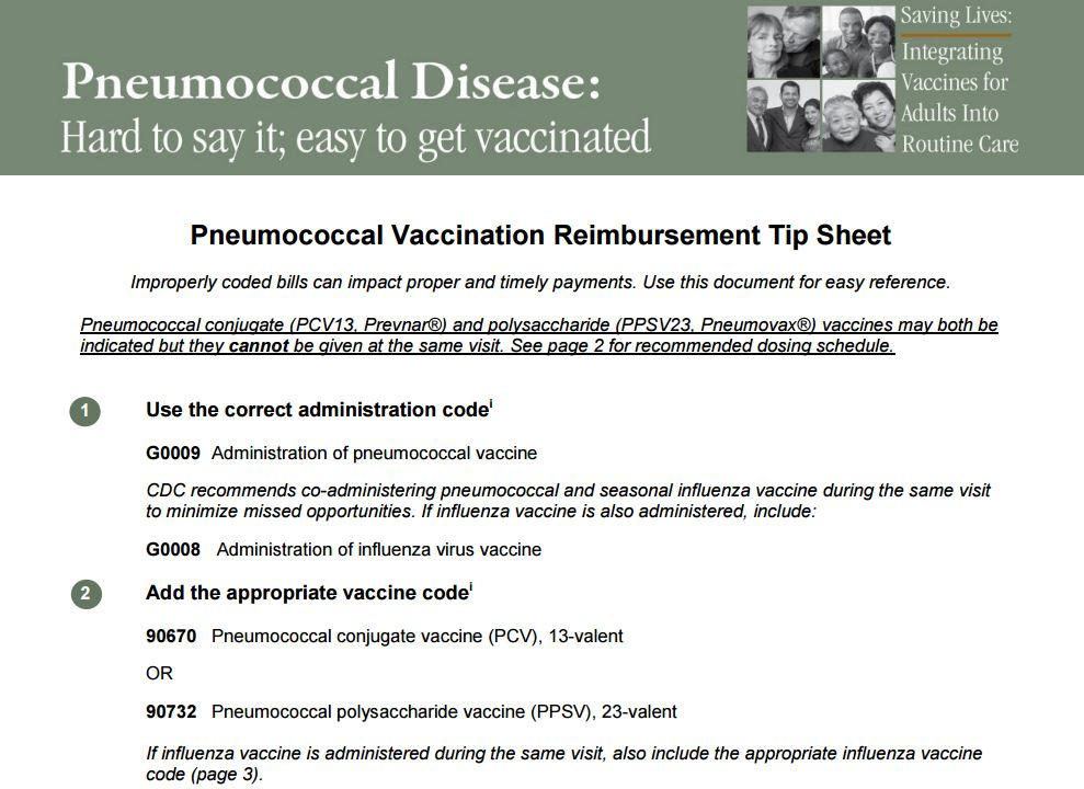 Pneumo Vaccine Reimbursement Sheet NFID